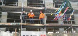 Richtfest für den Erweiterungsbau des Landkreises in Wismar